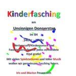 KINDERFASCHING am UNSINNIGEN DONNERSTAG