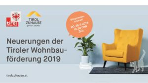"""Tirol Zuhause"" — BürgerInnen-Infotreff zur Tiroler Wohnbauförderung 2019"