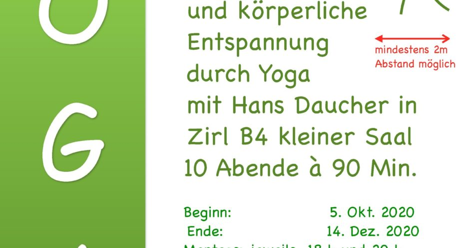Yoga Herbst 2020